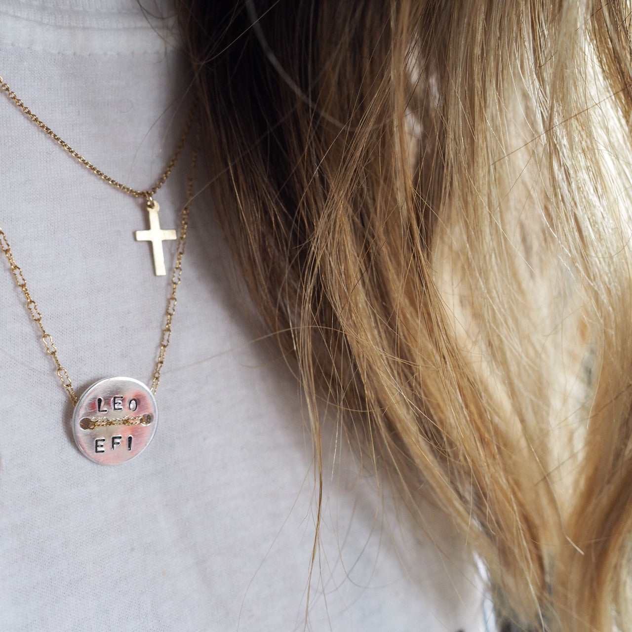 Baby Gold Cross Necklace