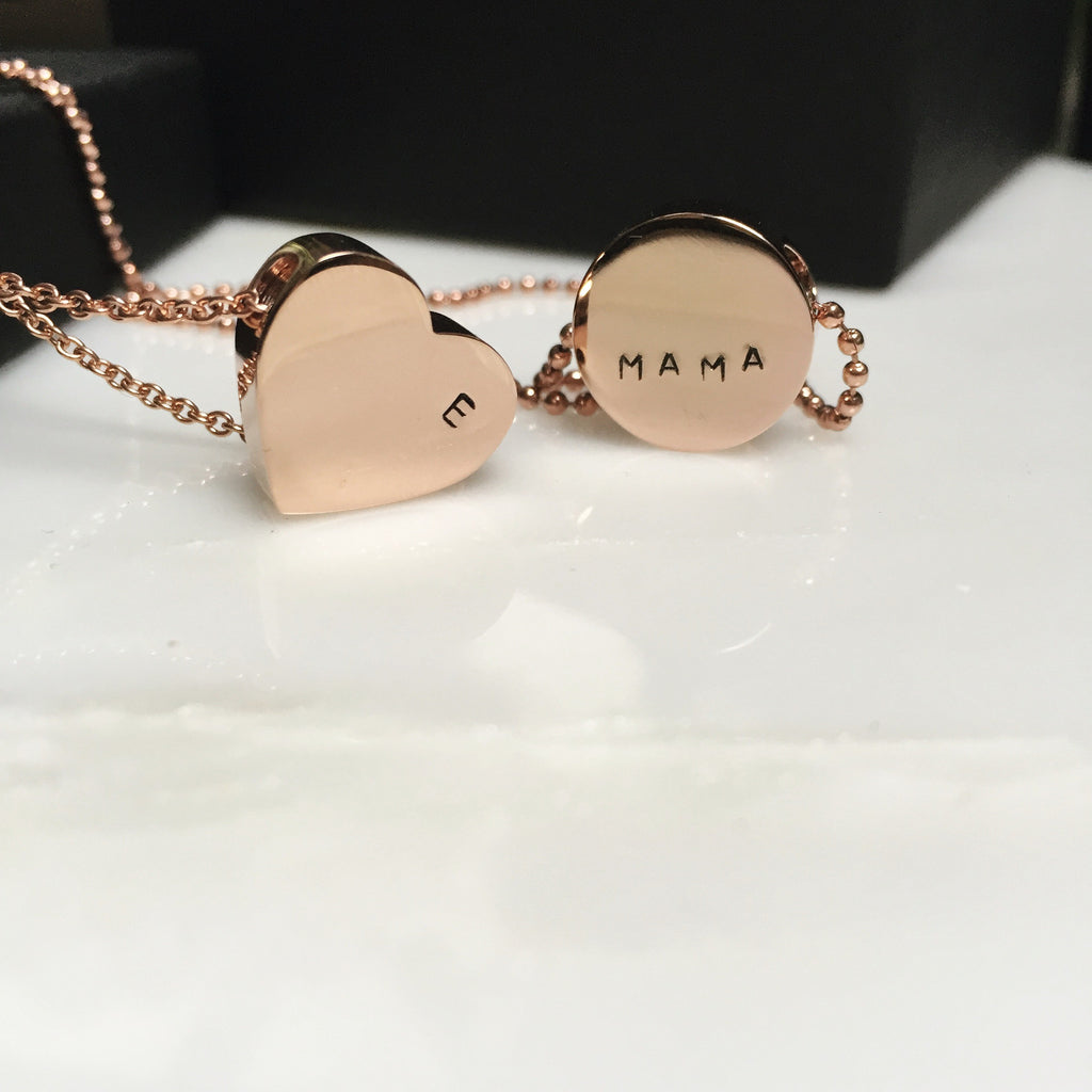 'Mama' Coin Pendant Necklace