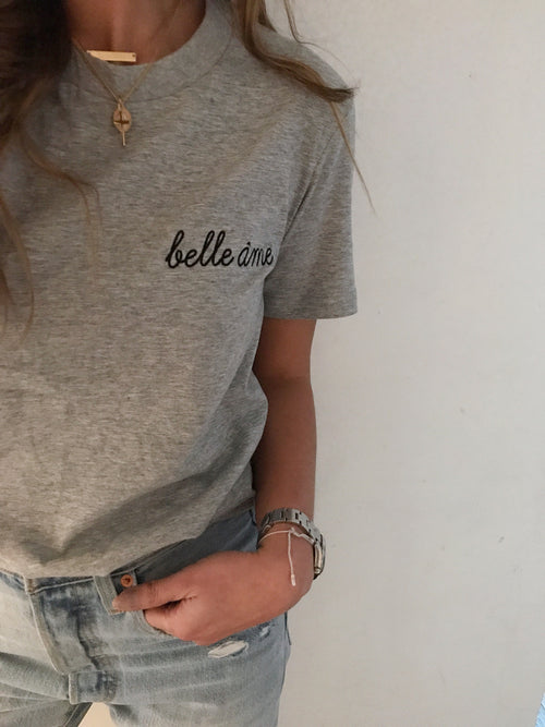 Limited Edition Grey Embroidered Tee ♡