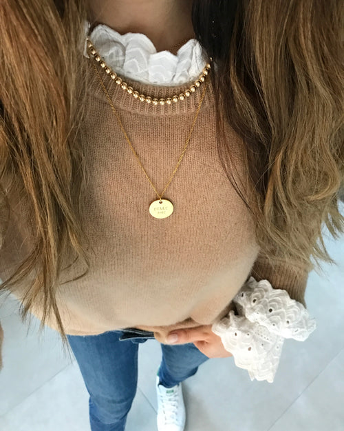 Belle Âme Disc Necklace