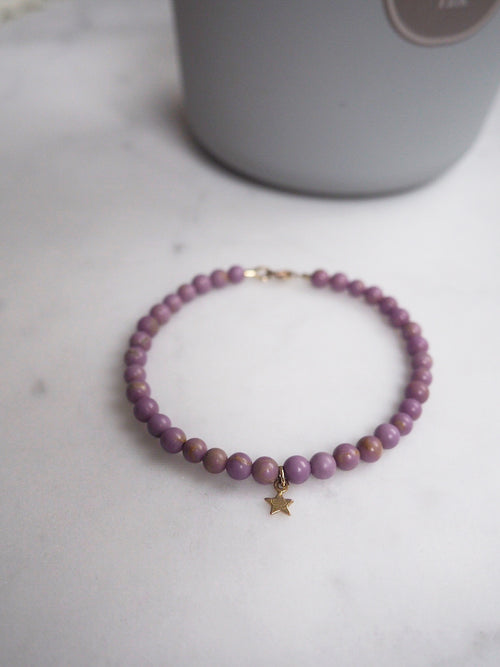 Star Keepsake Bracelet - PHOSPHOSIDERITE