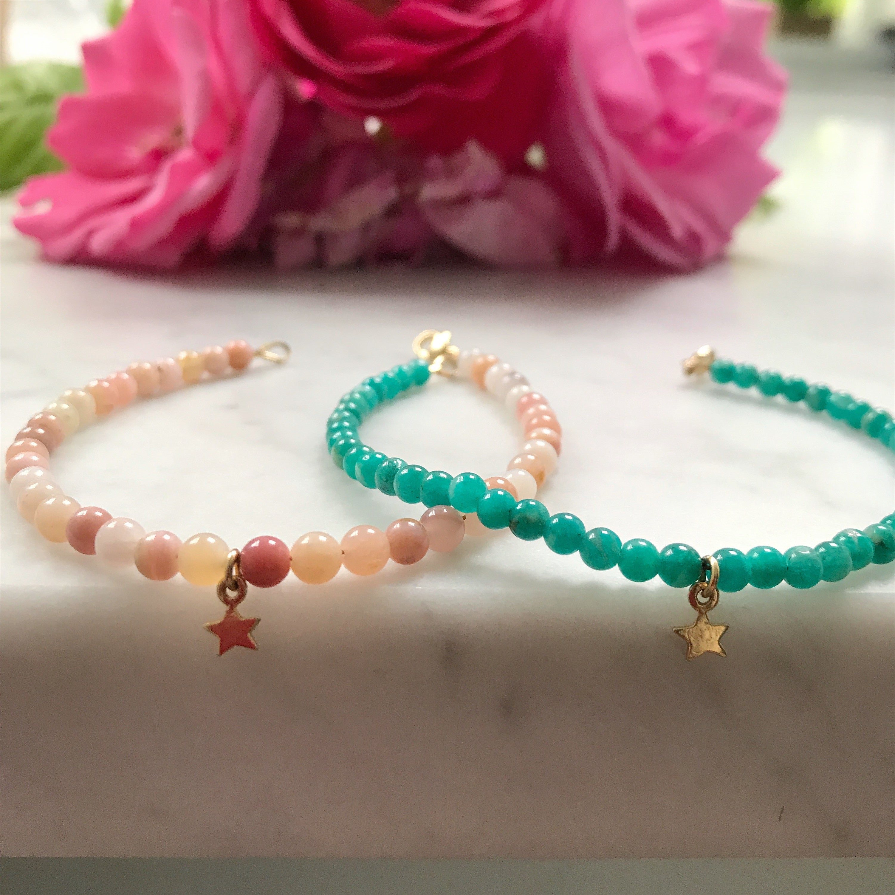 Star Keepsake Bracelet - Amazonite