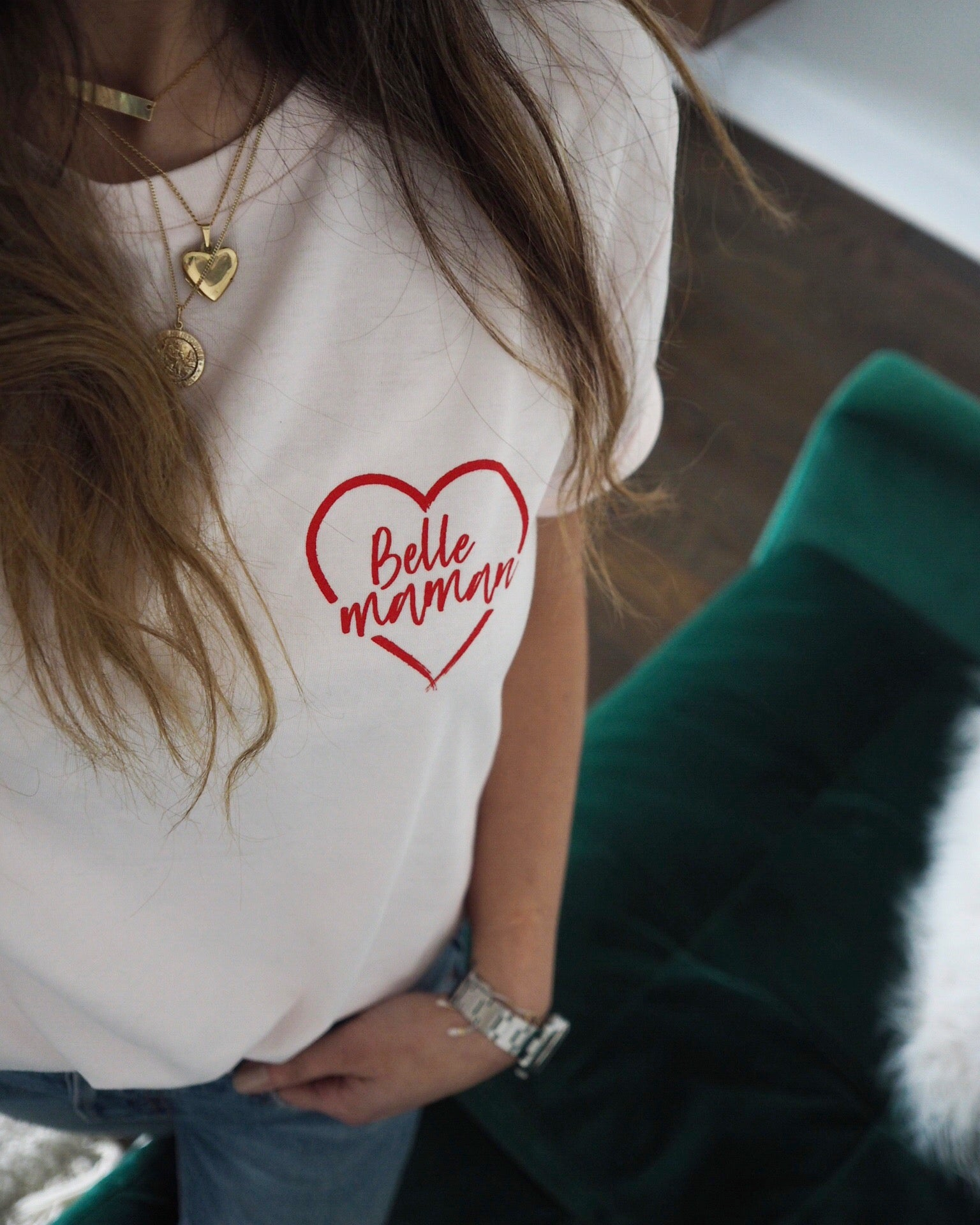 Pink Candy Maman Red Heart Tee ♡