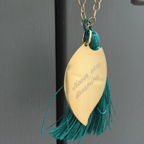 Never Stop Deaming Long Necklace - Teal
