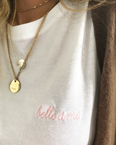 Limited Edition Belle Ame ♡ Embroidered Tee
