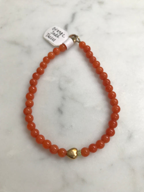 Orange Jade Keepsake Bracelet
