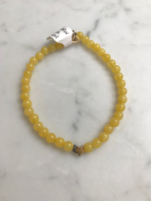 Yellow Jade Keepsake Bracelet