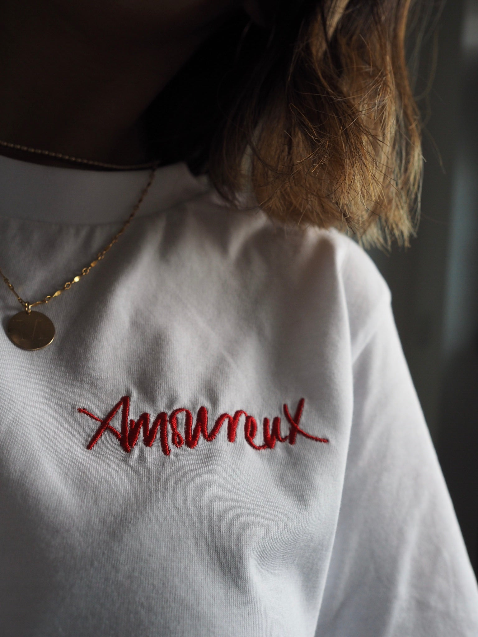 Amoureux Embroidered Tee
