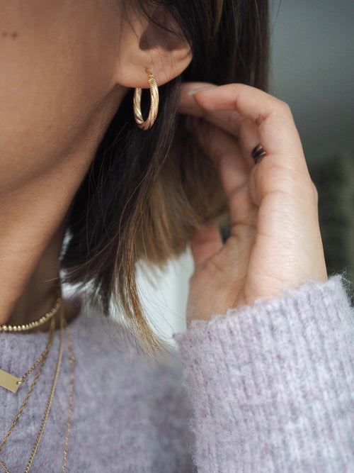 Isadora Gold Hoop Earrings