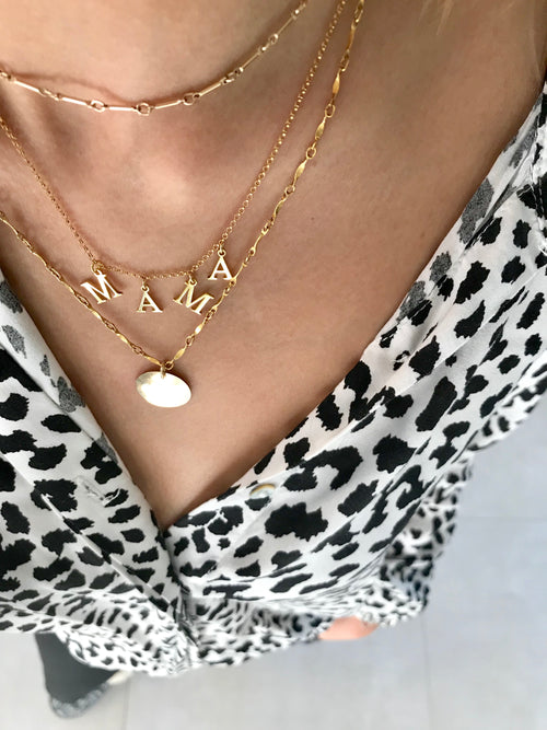 M A M A - INITIALS NECKLACE