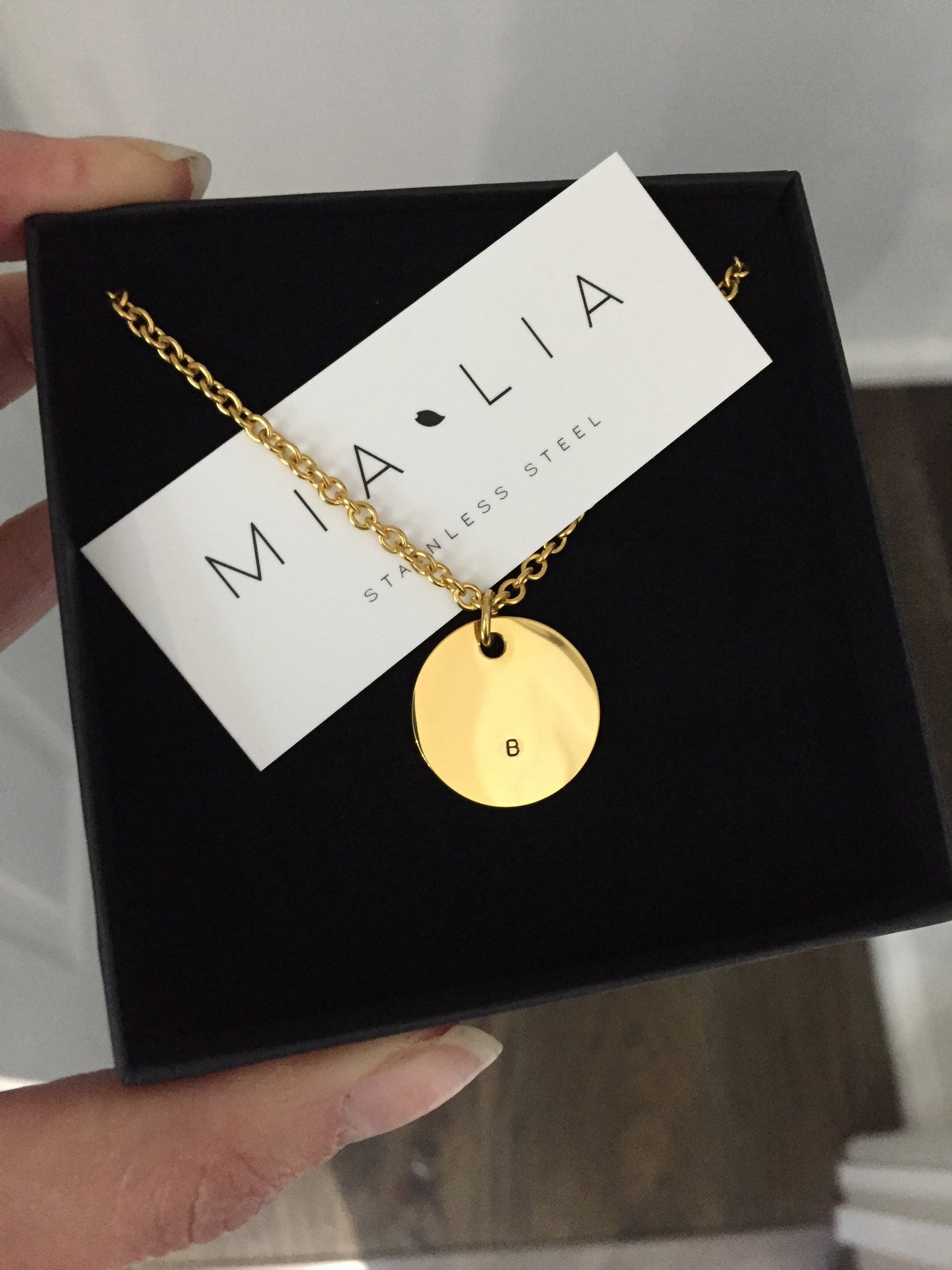 Mini Initials - Disc Pendant