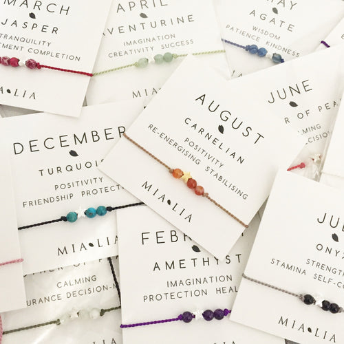 Star Birthstone Friendship Bracelet - January-April