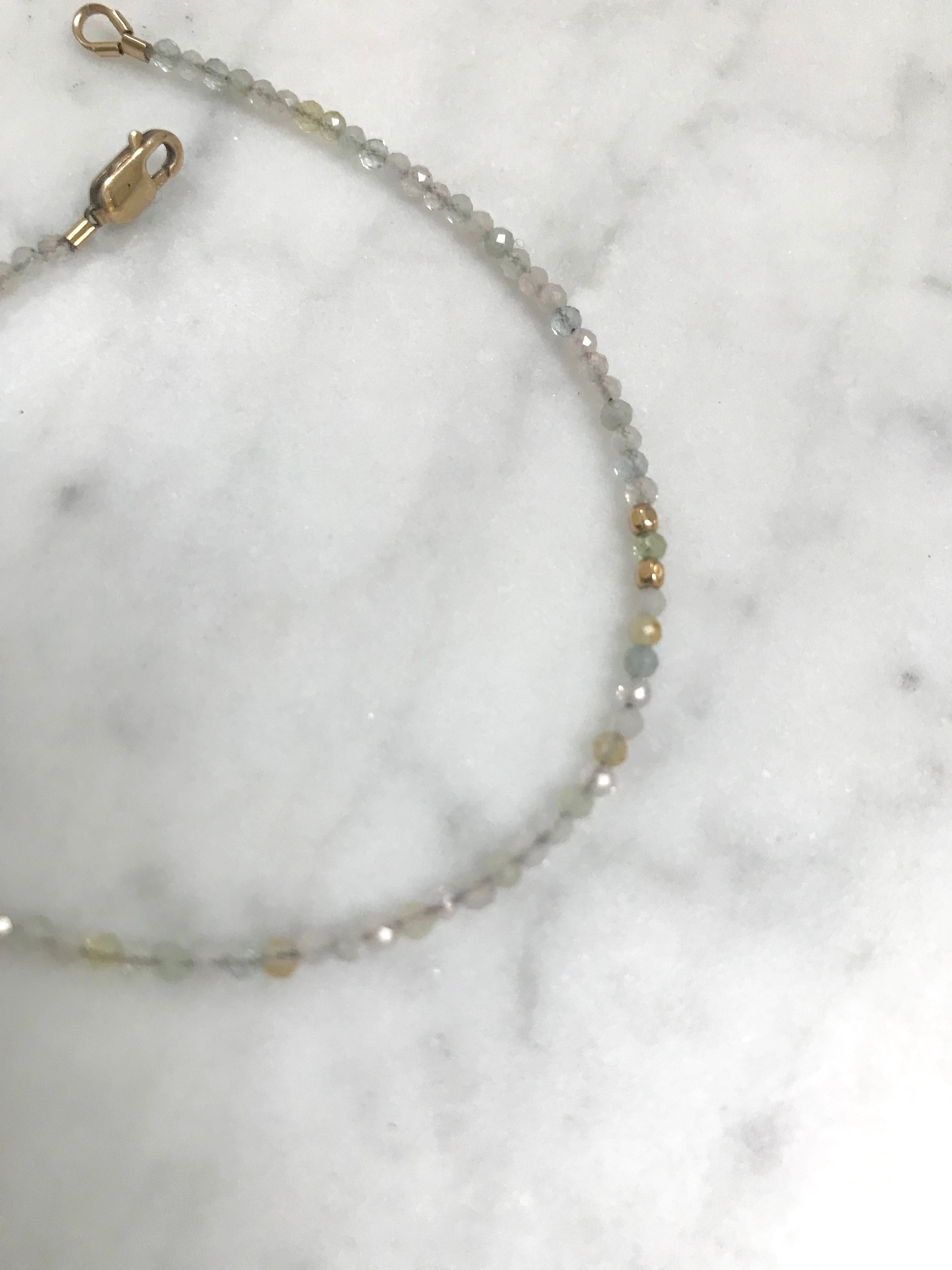 Beryl Morganite Beam Bracelet