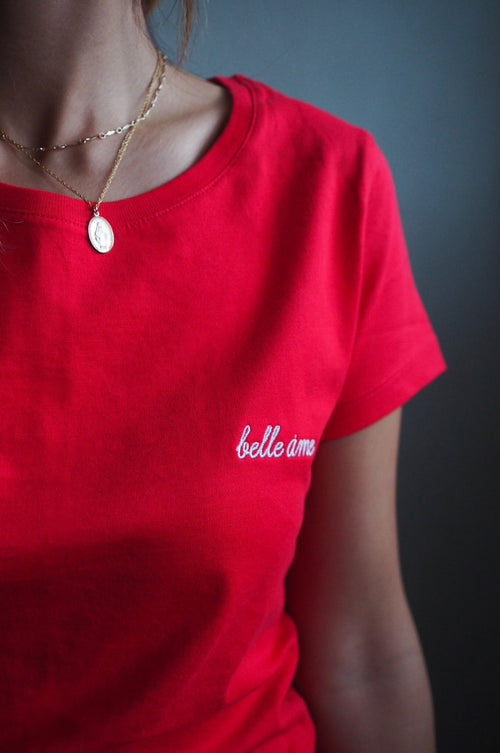 Scarlet Belle Ame ♡ Embroidered Tee