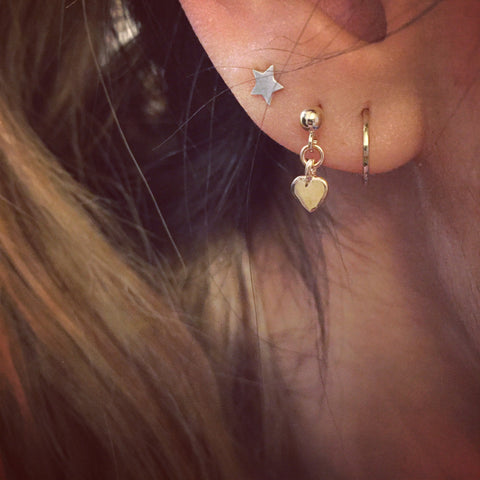 Heart Droplet Earring