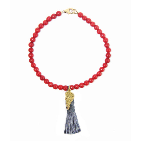 Angel Wing Tassel Keepsake Bracelet