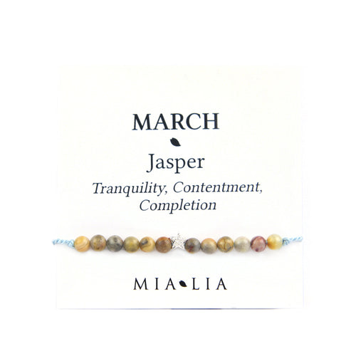 Birthstone Friendship Bracelet - March