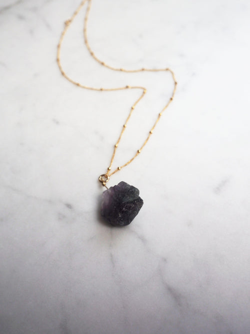 Fluorite Crystal Necklace