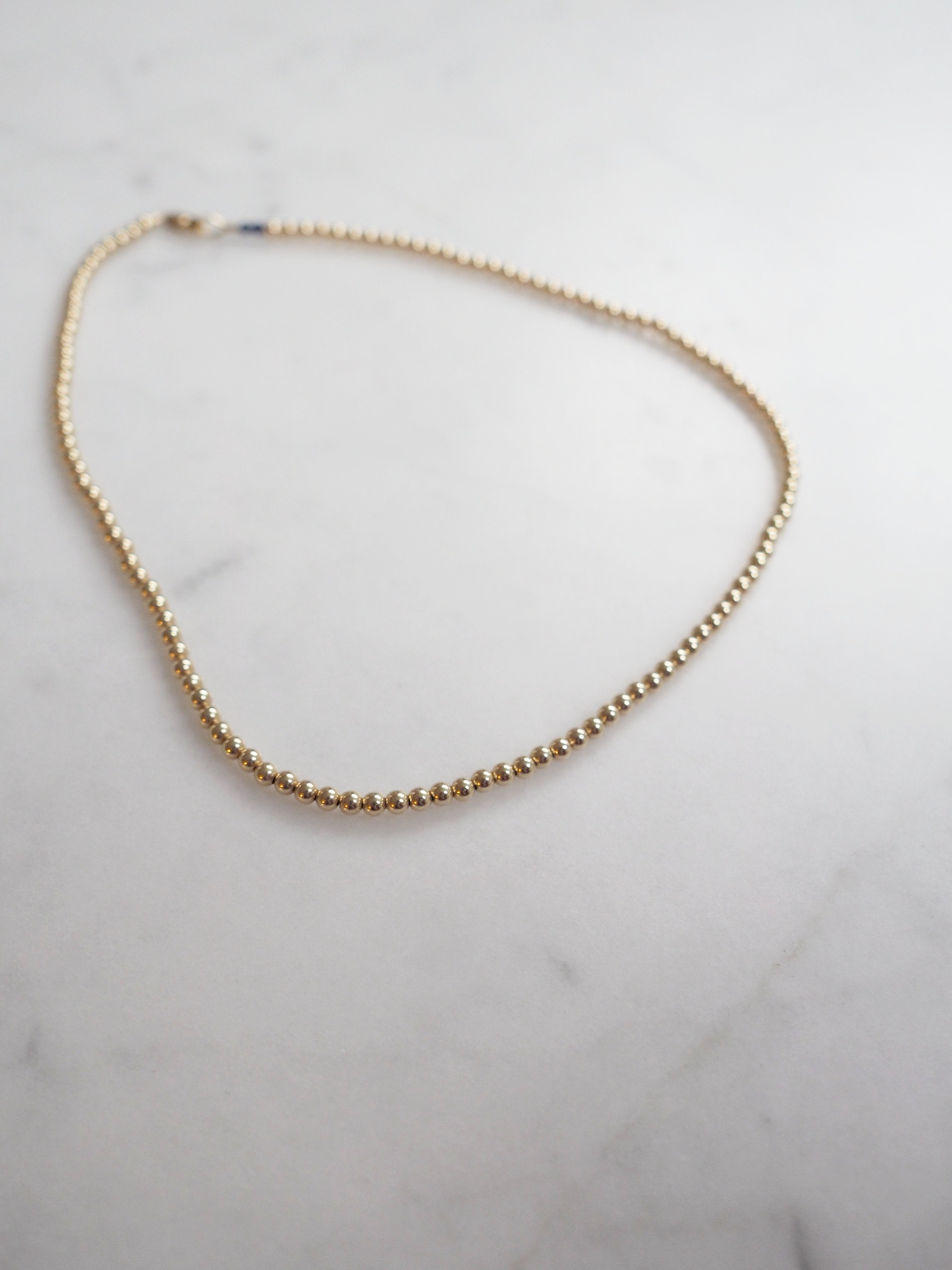 Gold Ball Bead Necklace