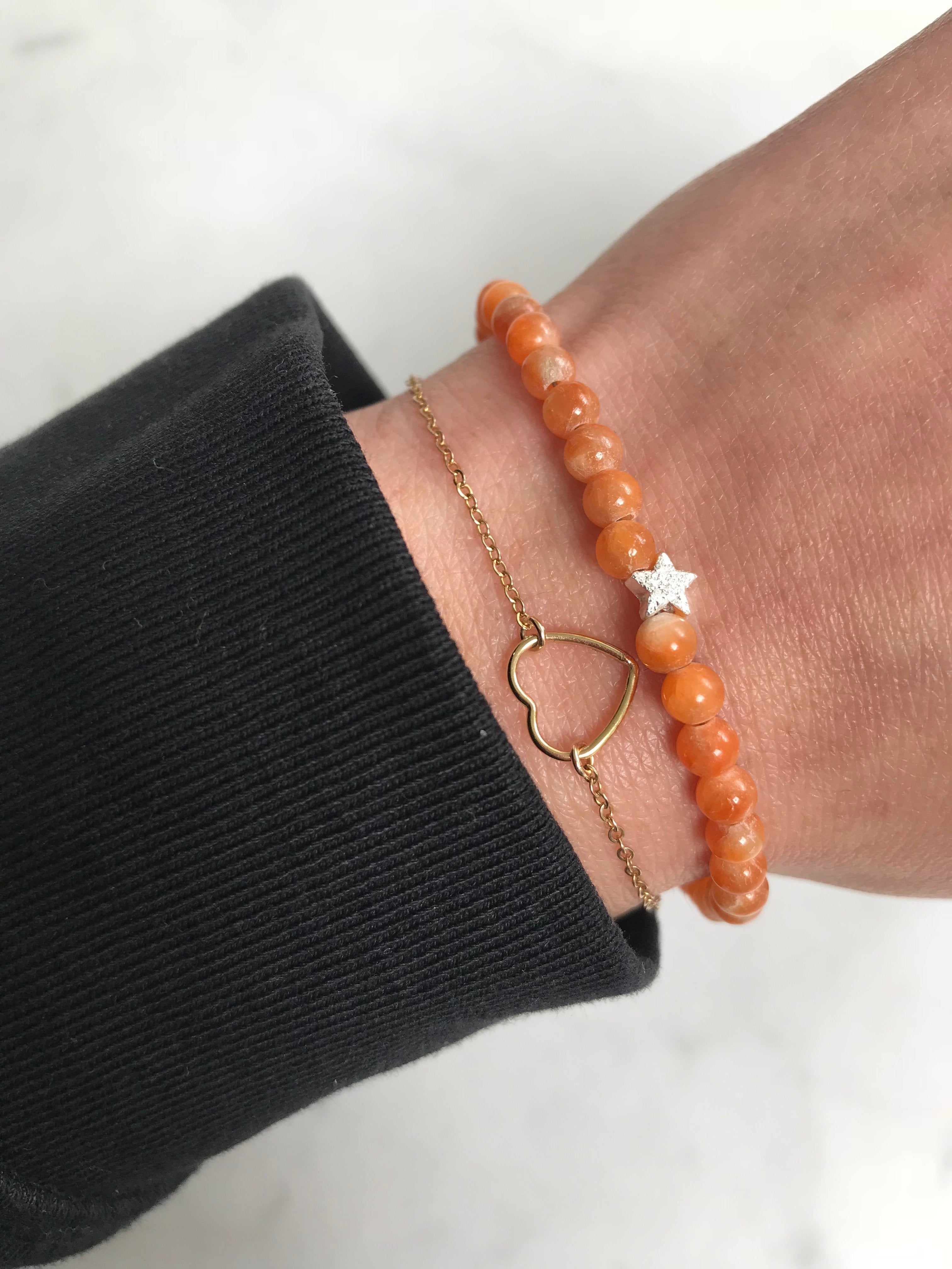 Orange Calcite Keepsake Bracelet