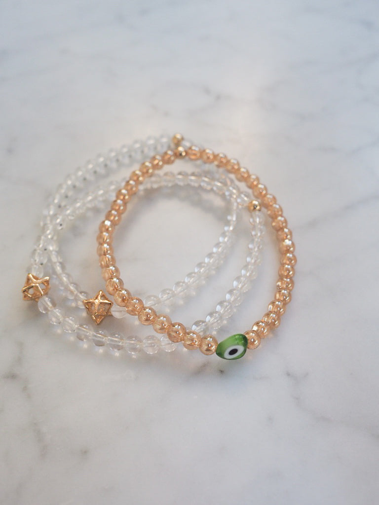 Clear Quartz Keepsake Bracelet