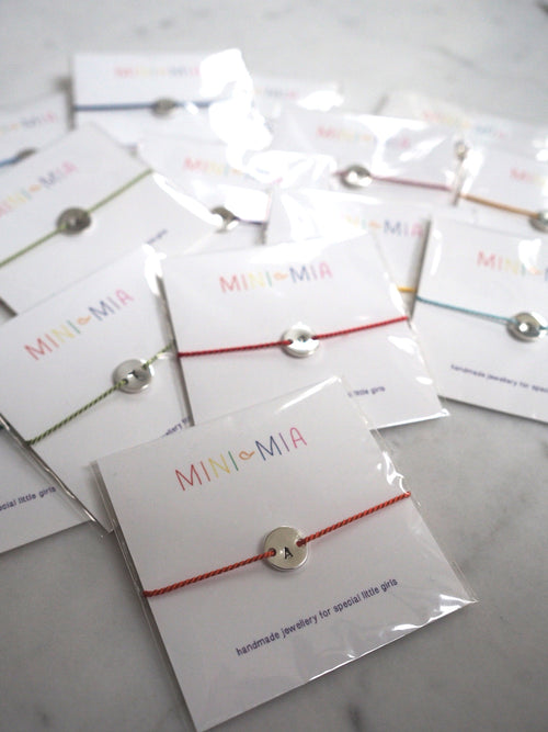 Mini Mia Initial Button Bracelet