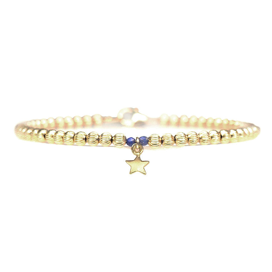 Gold Star Beaded Bracelet