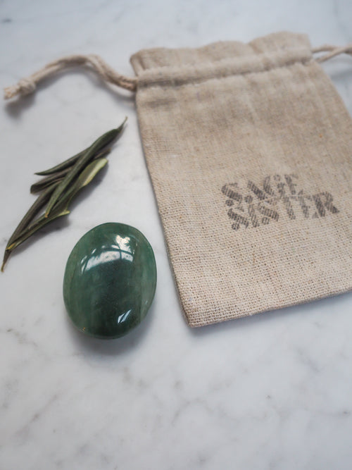 Green Aventurine Palm Stone ◇
