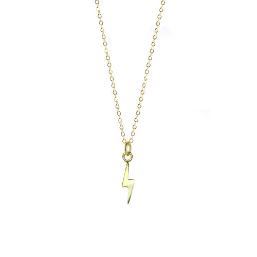 Thunderbolt Necklace - Gold