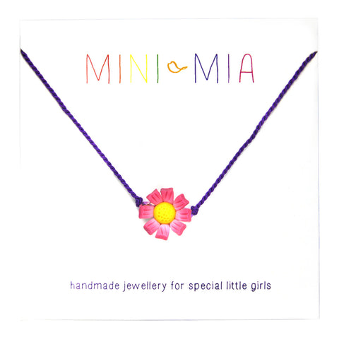 Children's Pink Flower Necklace
