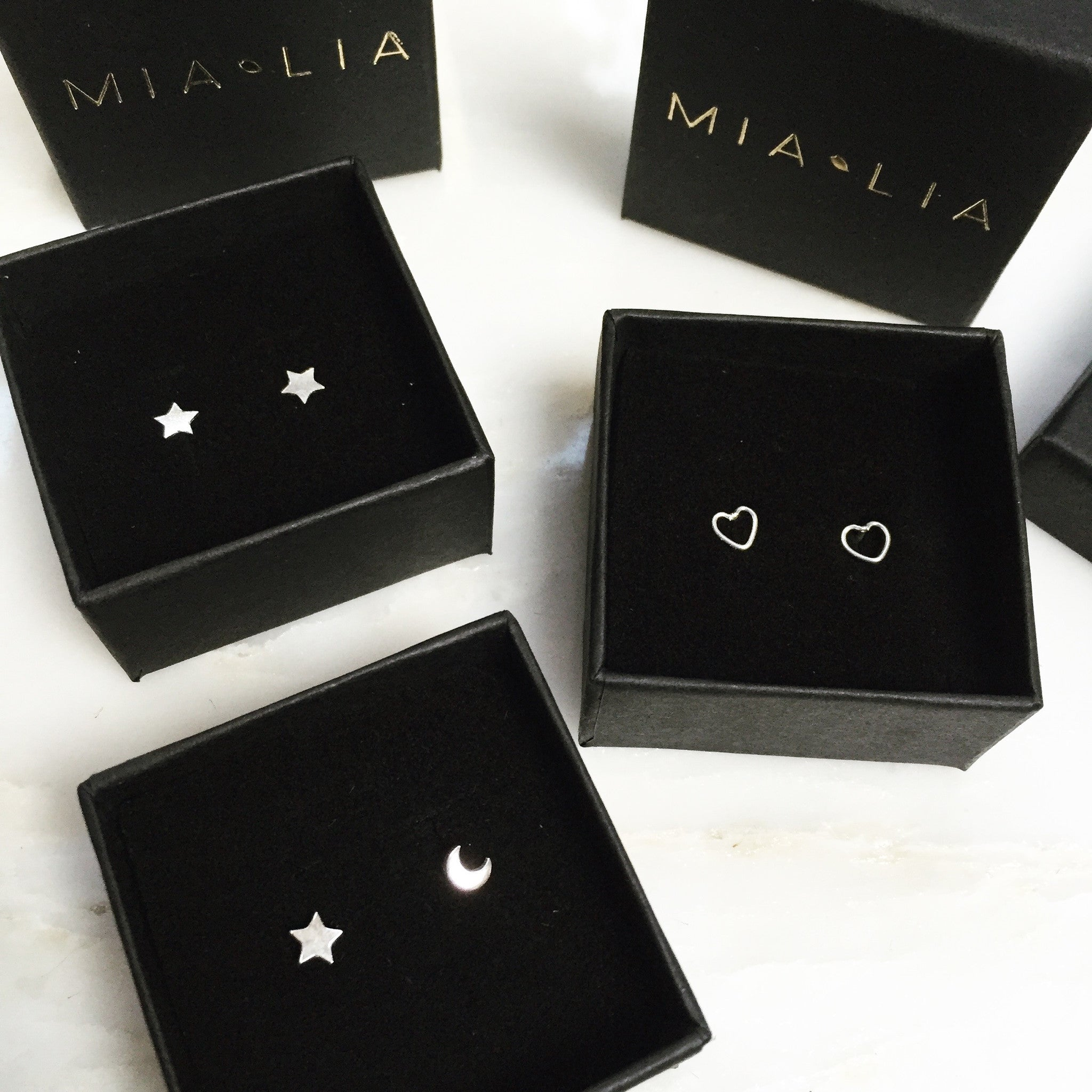 Love Trio Stud Earrings ♡