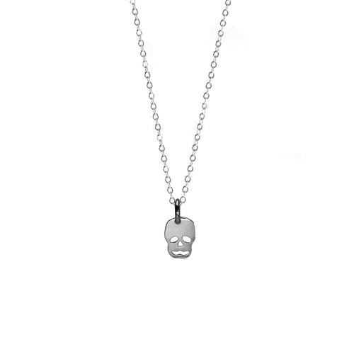 Skull Karma Necklace - Silver