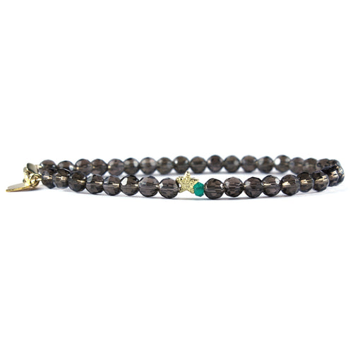 Keepsake Bracelet - Smoky Quartz Sparkle
