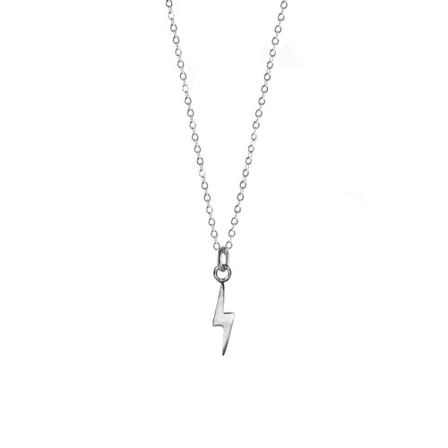 Thunderbolt Necklace - Silver