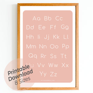 Alphabet - Blush (Card)