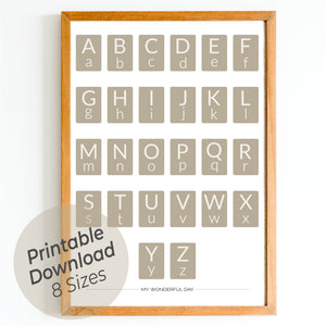 Alphabet - Beige (Cards)