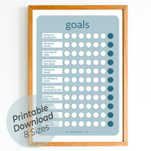 Load image into Gallery viewer, Goals Chart - Blue