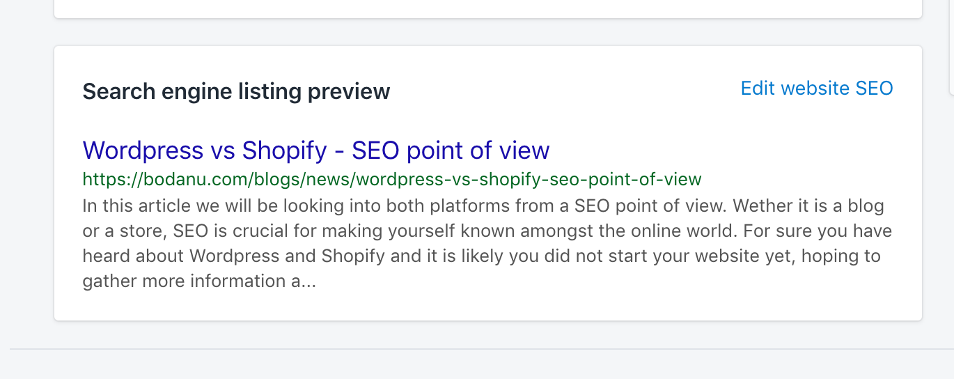 search engine listing preview