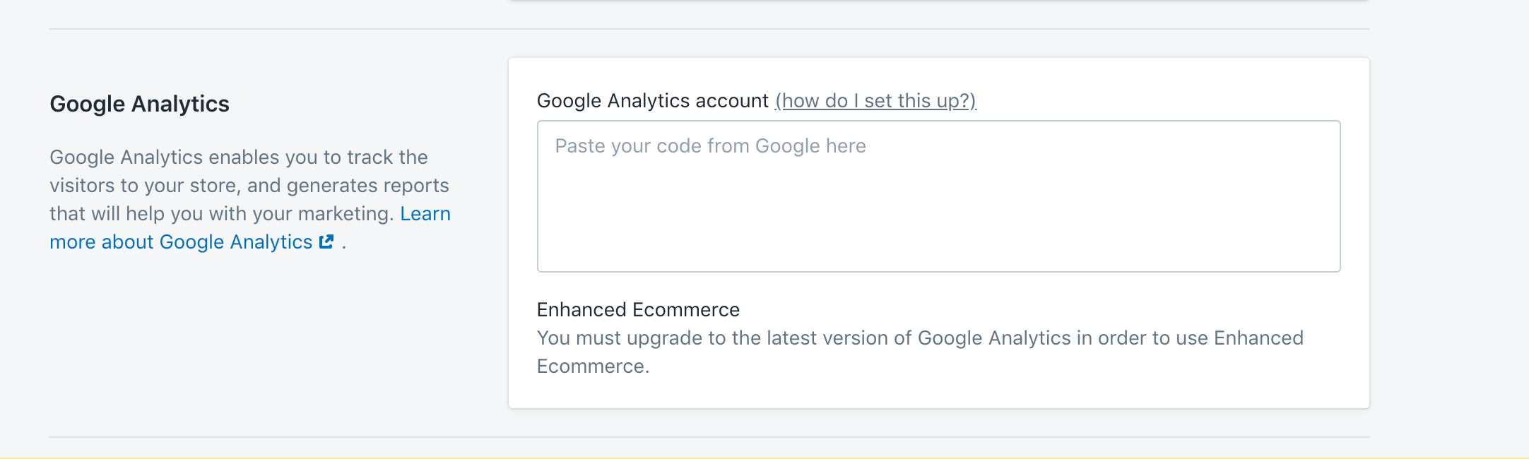 Google analytics shopify