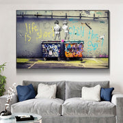 Life Is Short Chill High Quality HD Canvas Print - Kanvas World