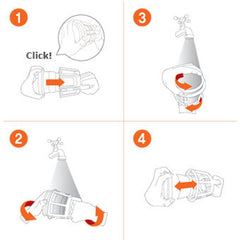 Kuvings Silent Juicer with Smart Cap Whole Screen Cleaning Brush Instructions