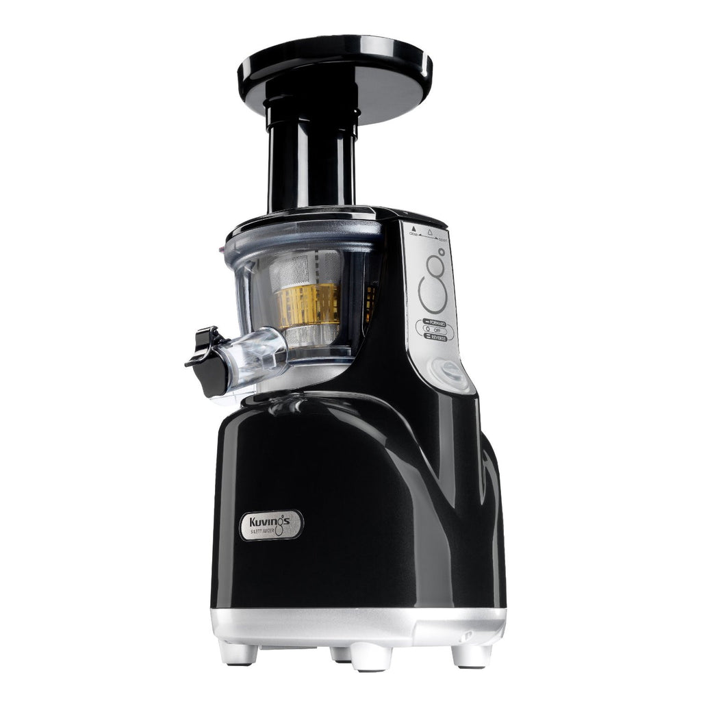 Kuvings Silent Juicer with Smart Cap Black and Silver Rear View