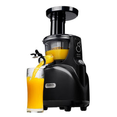 Kuvings Silent Juicer with Smart Cap Black Pearl with Orange Juice