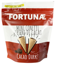 Load image into Gallery viewer, Mini Conetti Ripieni al Cacao Fondente - FORTUNAE