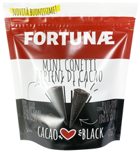 Laden Sie das Bild in den Galerie-Viewer, Mini Conetti Ripieni al Cacao Fondente Black Edition - FORTUNAE