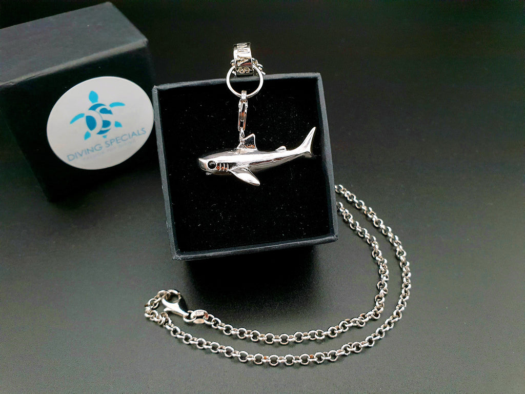 925 Sterling Silver Necklace: Shark Unisex