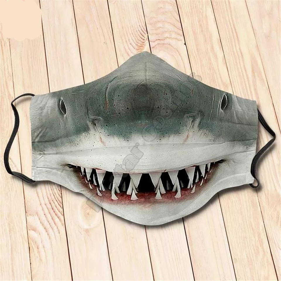Face Masks: Scare your friends with Sharks
