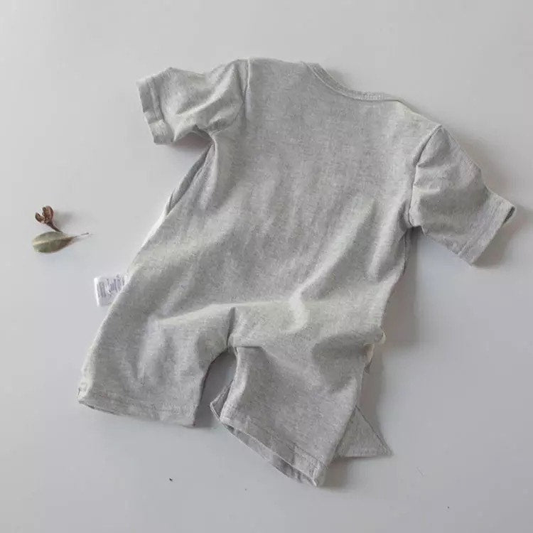 Shark Jaw Short Sleeve Baby Romper