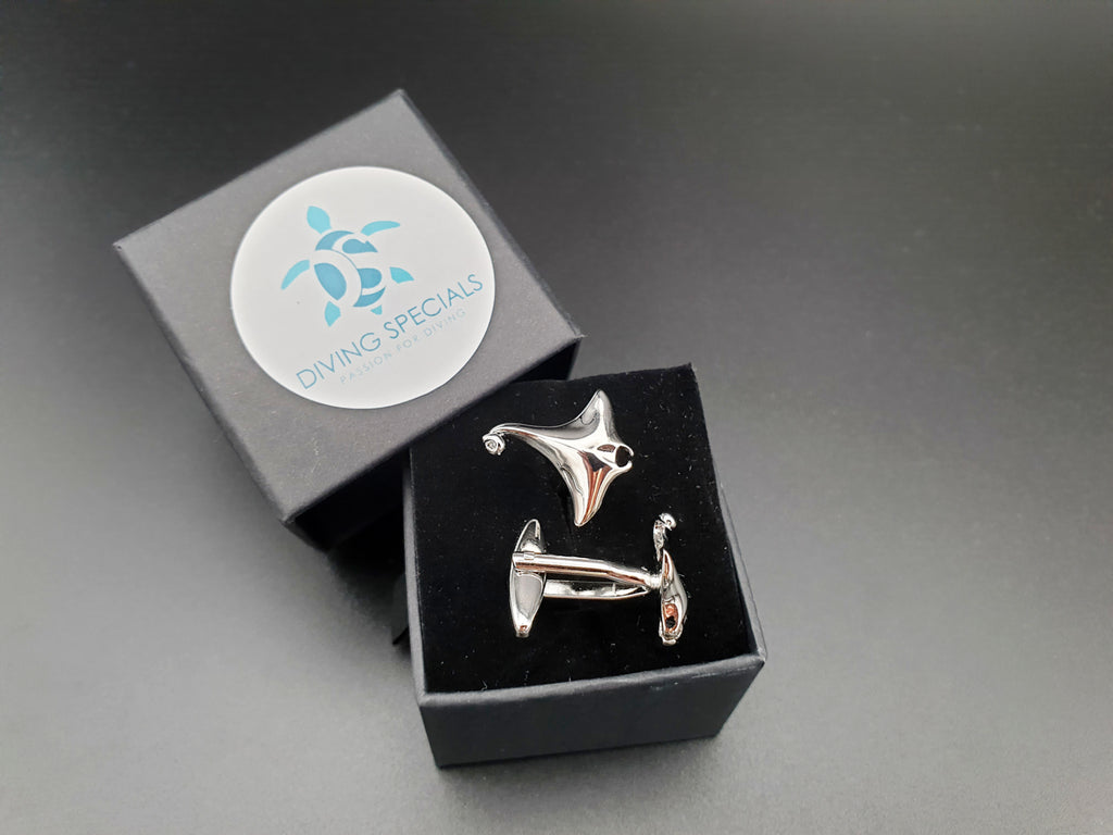Cufflinks for Men:  Manta Ray