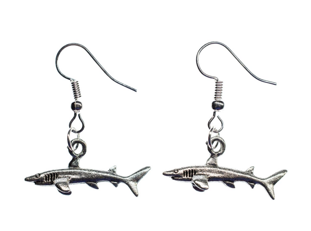 Earrings: Oceanic White Tip Shark Longimanus
